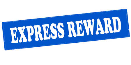 recompense: Rubber stamp with text express reward inside, vector illustration