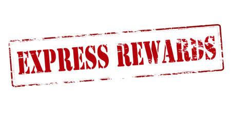 remuneraciÓn: sello de goma con el texto expreso de la recompensa en el interior, ilustración vectorial