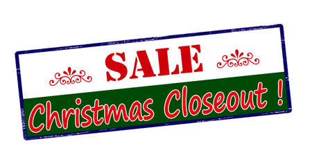 closeout: Rubber stamp with text sale Christmas closeout inside, vector illustration Illustration