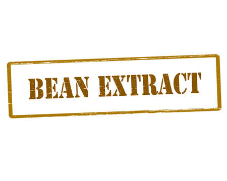 extract: Rubber stamp with text bean extract inside, vector illustration Illustration