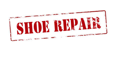 shoe repair: Rubber stamp with text shoe repair inside, vector illustration