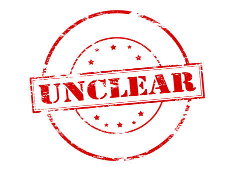 unclear: Rubber stamp with word unclear inside, vector illustration