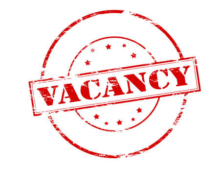 holidays vacancy: Rubber stamp with word vacancy inside, vector illustration Illustration
