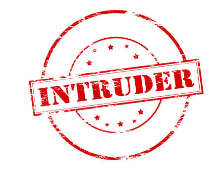 intruder: Rubber stamp with word intruder inside, vector illustration Illustration