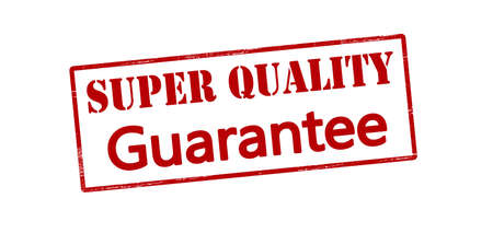 surety: Rubber stamp with text super quality guarantee inside, vector illustration