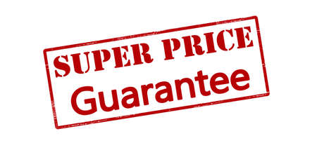 surety: Rubber stamp with text super price guarantee inside, vector illustration