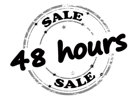 forty: Rubber stamp with text sale forty eight hours inside, vector illustration