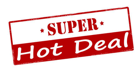 super hot: Rubber stamp with text super hot deal inside, vector illustration