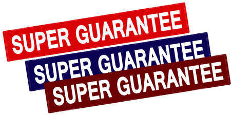 surety: Rubber stamp with text super guarantee inside, vector illustration