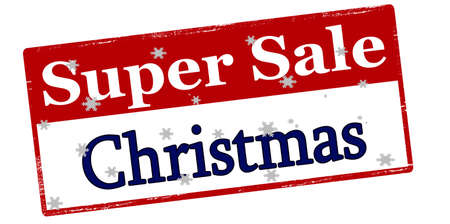 treason: Rubber stamp with text super sale Christmas inside, vector illustration