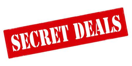 undisclosed: Rubber stamp with text secret deals inside, vector illustration Illustration