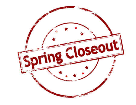 closeout: Rubber stamp with text spring closeout inside, vector illustration