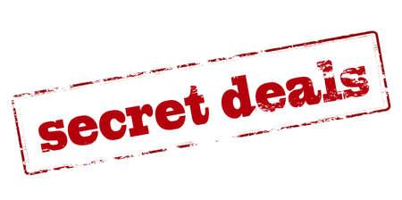 dealings: Rubber stamp with text secret deals inside, vector illustration Illustration