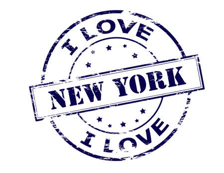 ny: Rubber stamp with text New York inside, vector illustration