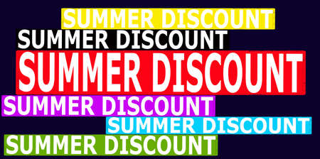 cousin: Rubber stamp with text summer discount inside, vector illustration Illustration