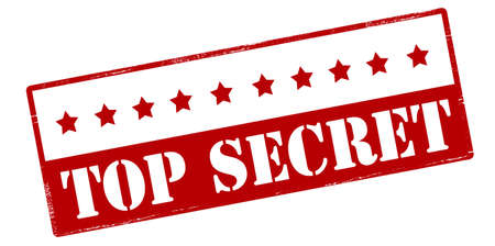 undisclosed: Rubber stamp with text top secret inside, vector illustration