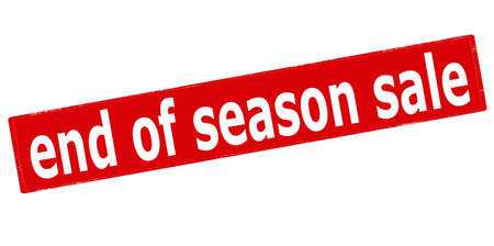 conclude: Rubber stamp with text end of season sale inside, vector illustration
