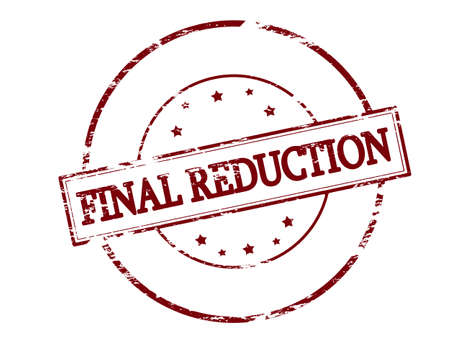 conclusive: Rubber stamp with text final reduction inside, vector illustration