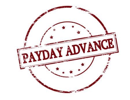 payday: Rubber stamp with text payday advance inside, vector illustration