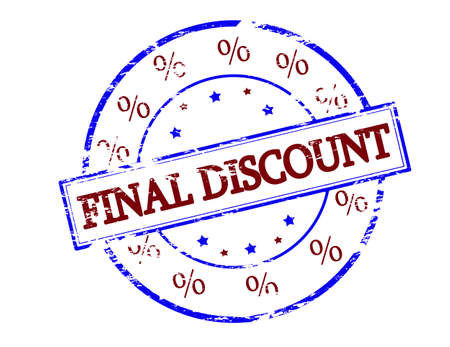 conclusive: Rubber stamp with text final discount inside, vector illustration
