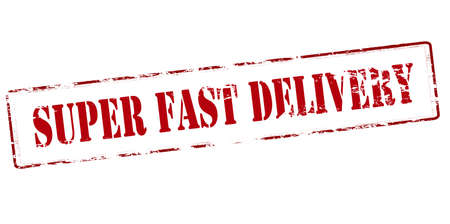 speedy: Rubber stamp with text super fast delivery inside, vector illustration Illustration