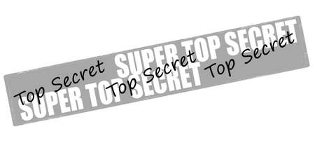 undisclosed: Rubber stamp with text super top secret inside, vector illustration