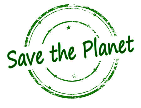 salve: Rubber stamp with text save the planet inside, vector illustration Illustration