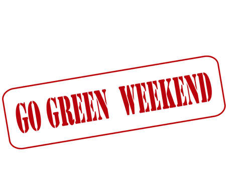 go inside: Rubber stamp with text go green weekend inside, vector illustration Illustration