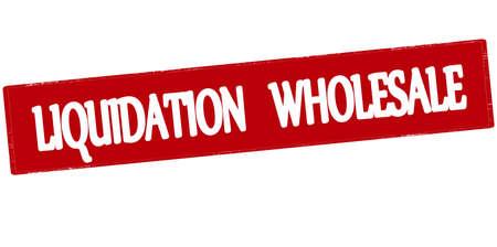 sello de goma con el texto de liquidación en el interior al por mayor, ilustración vectorial