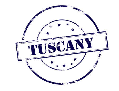 tuscany: Rubber stamp with word Tuscany inside, vector illustration