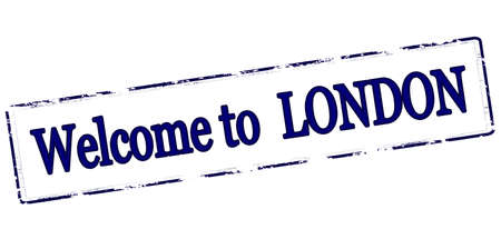 seasonable: Rubber stamp with text welcome to London inside, vector illustration