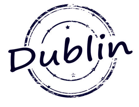 dublin: Rubber stamp with word Dublin inside, vector illustration