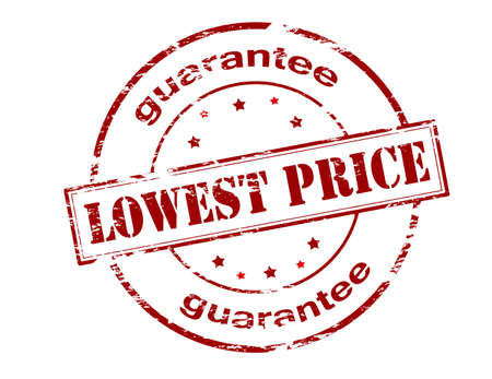 lowest: Rubber stamp with text lowest price guarantee inside, vector illustration