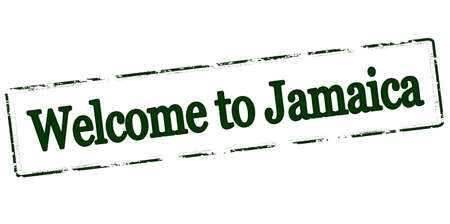 Rubber stamp with text welcome to Jamaica inside, vector illustration Illustration