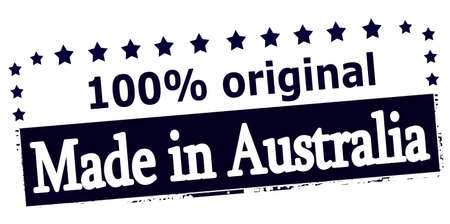 australia stamp: Rubber stamp with text made in Australia inside, vector illustration Illustration
