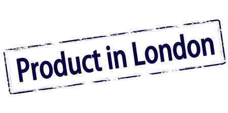 produce product: Rubber stamp with text product in London inside, vector illustration