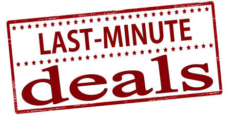 dealings: Rubber stamp with text last minute deals inside, vector illustration