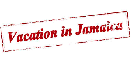 holidays vacancy: Rubber stamp with text vacation in Jamaica inside, vector illustration