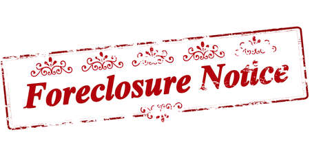 foreclosure: Rubber stamp with text forclosure notice inside, vector illustration