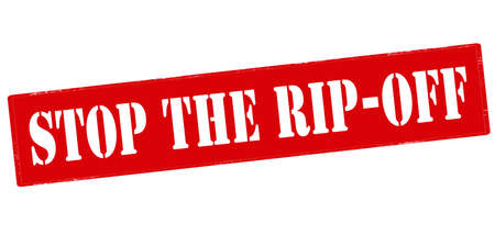 rip off: Rubber stamp with text stop the rip off inside, vector illustration