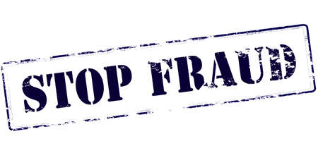 stoppage: Rubber stamp with text stop fraud inside, vector illustration