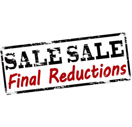 abatement: Rubber stamp with text sale final reductions inside, vector illustration Illustration