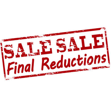 Rubber Stamp With Text Sale Final Reductions Inside Vector Illustration Stock