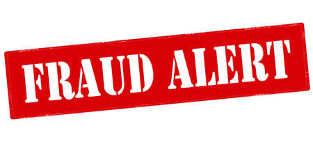 uneasiness: Rubber stamp with text fraud alert inside, vector illustration Illustration