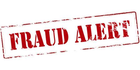 Rubber stamp with text fraud alert inside, vector illustration Illustration