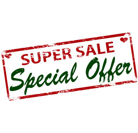 peculiar: Rubber stamp with text super sale special offer inside, vector illustration