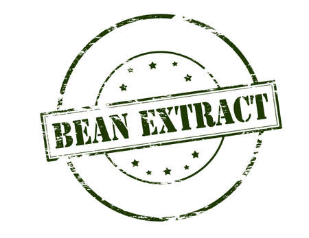 french bean: Rubber stamp with text bean extract inside, vector illustration Illustration