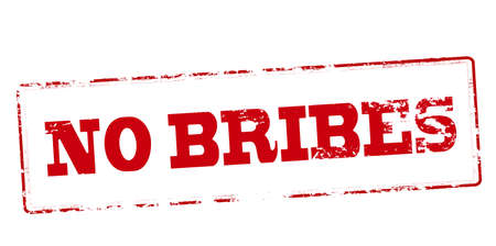 graft: Rubber stamp with text no bribes inside, vector illustration Illustration