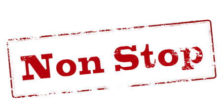 non: Rubber stamp with text non stop inside, vector illustration