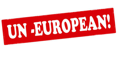 un: Rubber stamp with text un European inside, vector illustration